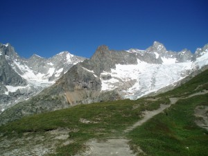 Walking into Switzerland over the Grand Col de Ferret